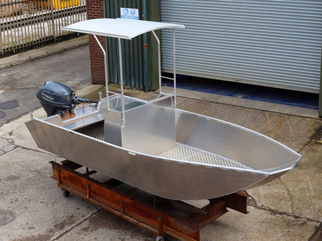Water Witch AUB aluminium workboat fully welded design with canopy