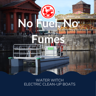 Water Witch fights ocean plastic pollution with electric clean-up boats.