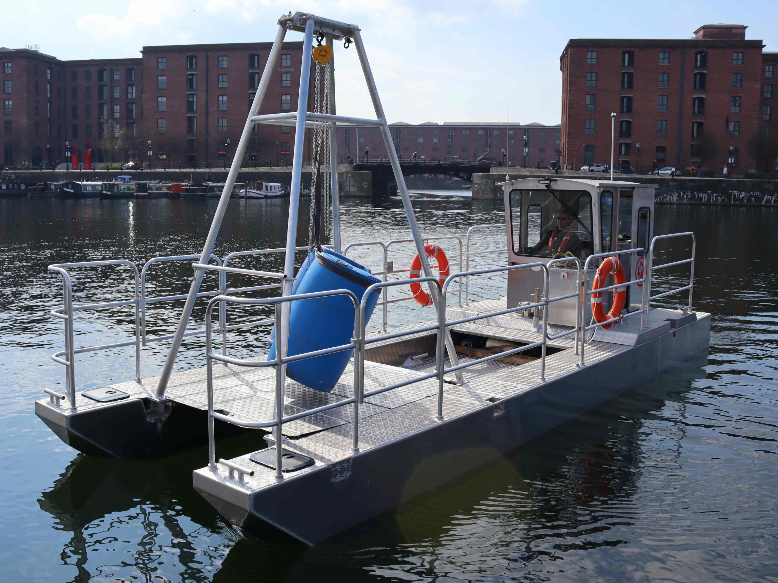 Mooring lifting boat aluminium trash skimmer